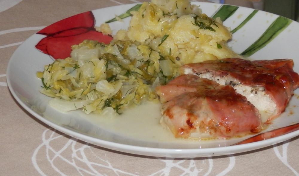 kurczak z parmezanem i chrupiącym prosc