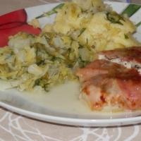 Kurczak z parmezanem i chrupiącym prosciutto