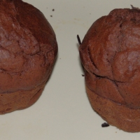 Bananowe muffinki w dwóch wersjach