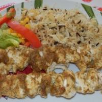 Szaszłyki z kurczaka w sosie satay