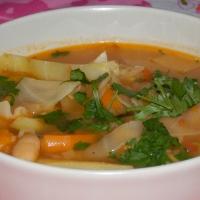 Minestrone z pieczonych warzyw