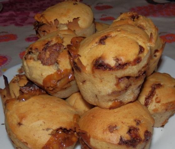 snickersowe muffinki