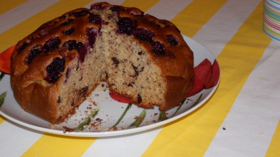 ciasto z jeżynami