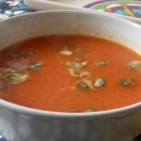 Krem z pieczonej papryki i pomidorów