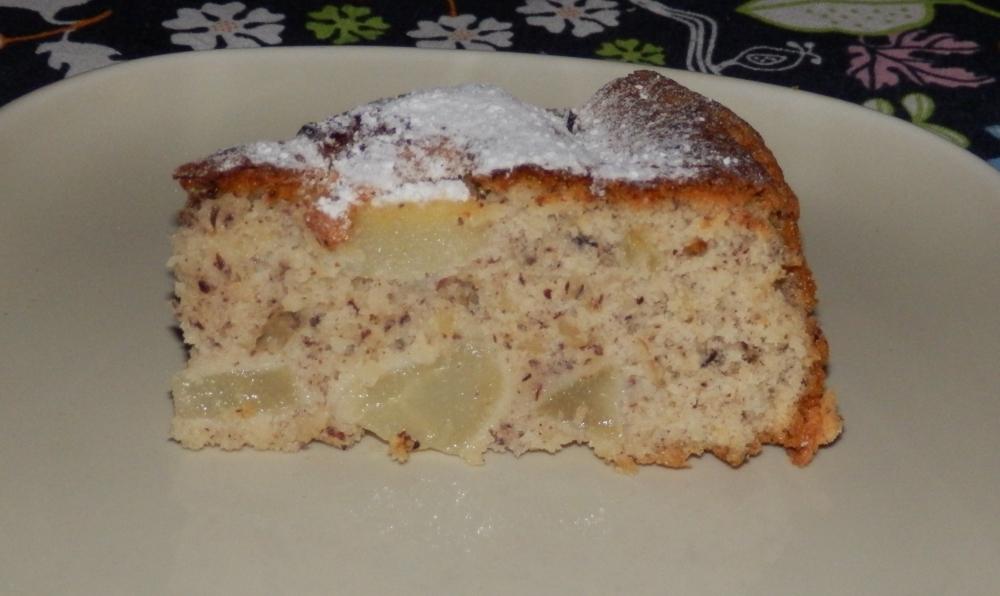 ciasto orzechowo-gruszkowe