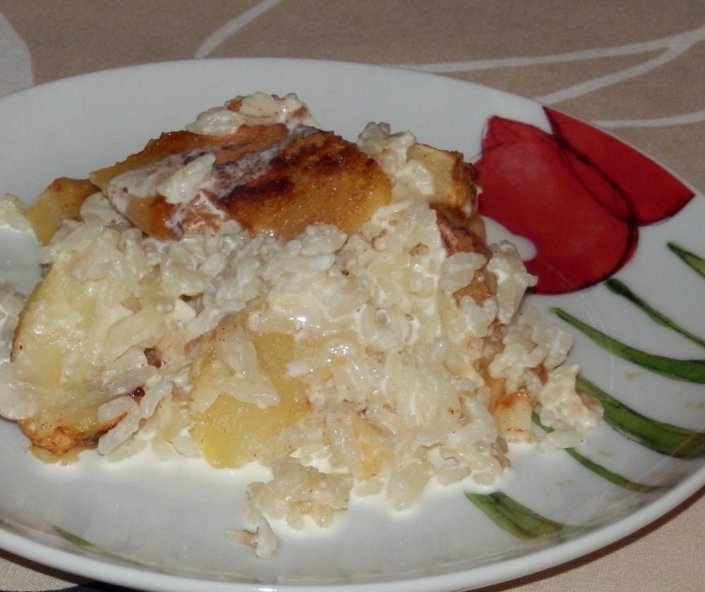 ryż z jabłkami